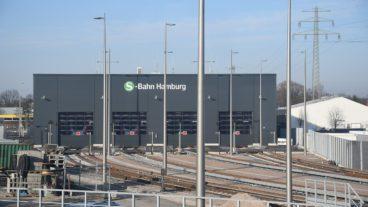 Die ersten Züge werden im neuen S-Bahn-Betriebswerk Stellingen seit Ende Januar gewartet
