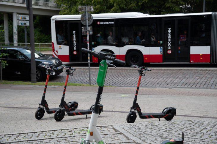 E-Roller, E-Scooter, Elektroroller, Hamburg, Roller, Scooter, Tretroller