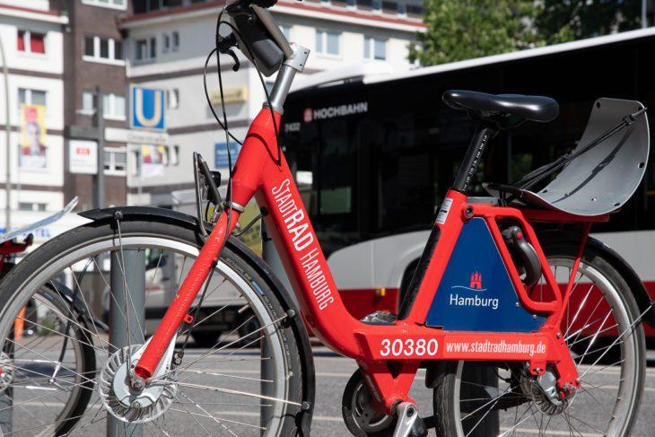 Fahrrad, Fahrradverkehr, Hamburg, Mietfahrräder, Mietstation, Rad, Radverkehr, StadtRad, Umweltverbund