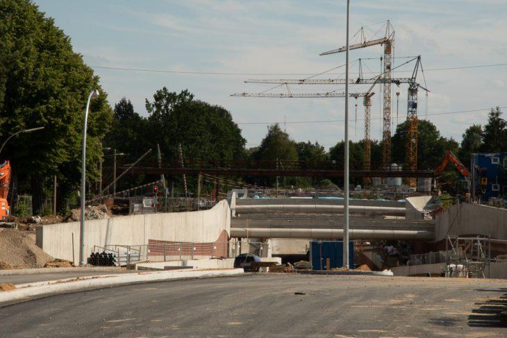 Bahnübergang, Hammer Straße, Schranke