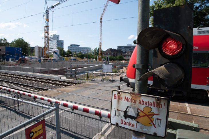 Bahnübergang, Bauarbeiten, Hamburg, Hammer Straße