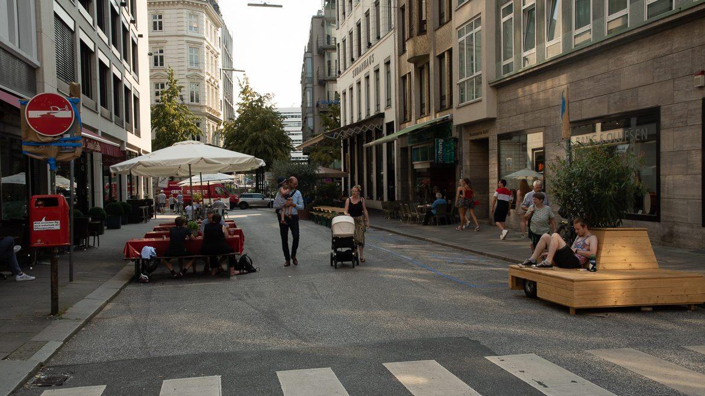 Ende August waren auf den gesperrten Straßen zwischenzeitlich auch weniger Fußgänger unterwegs.