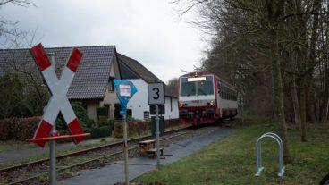 Bahn-Probeverkehr zwischen Uetersen und Tornesch im Februar 2020