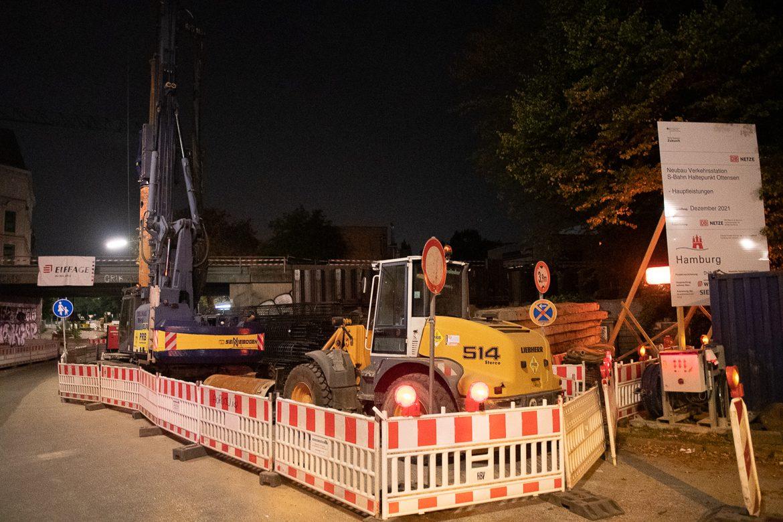Stichprobe: In der Nacht zum 24. September 2020 ruhten die Bauarbeiten.