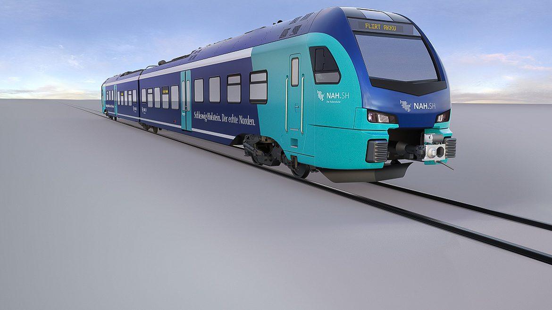 So sollen die neuen Akkutriebwagen für Schleswig-Holstein vom Hersteller Stadler aussehen