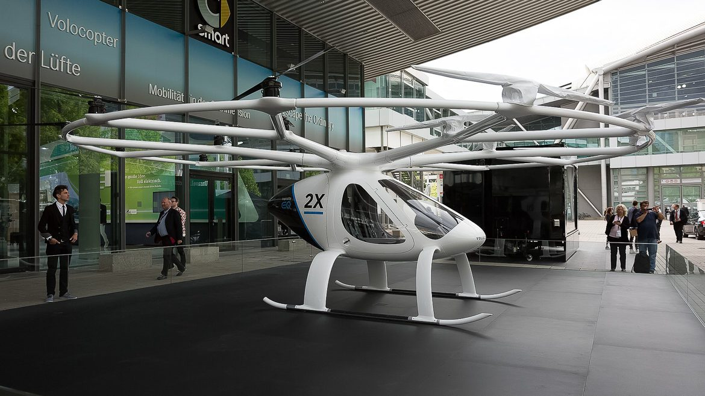 Flugtaxi des Herstellers Volocopter.
