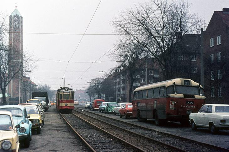 Die ehemalige Straßenbahn in Hamburg