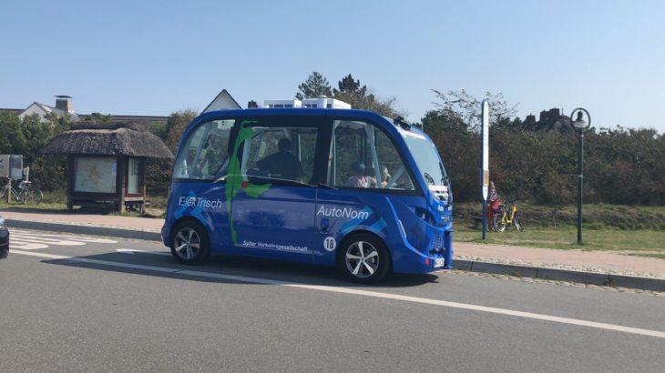 Selbstfahrender Bus auf Sylt