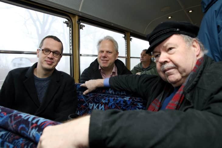 Vertreter Fahrgastverband Pro Bahn, Stefan Barkleit, Birger Wolter, Ehrenvorsitzende Karl-Peter Naumann