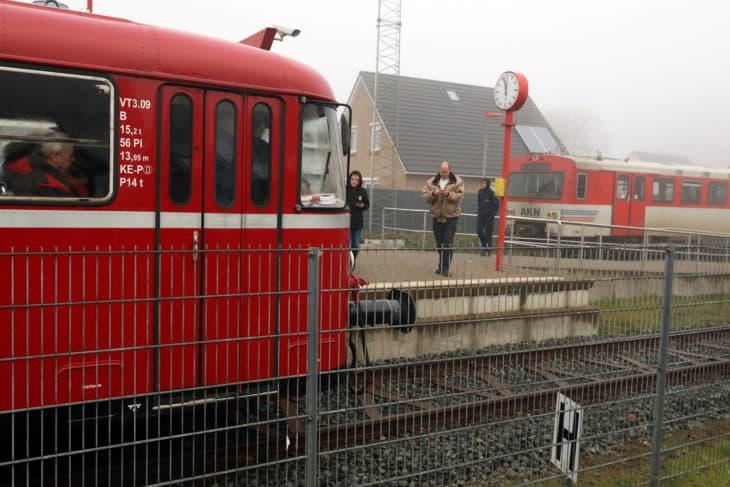 Uerdinger Schienenbus, 1967, AKN-Triebwagen VTA, 1993 Bahnhof, Barmstedt