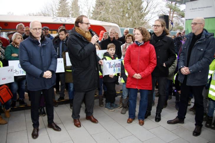 Großer Dank Bürgermeister Hochbahn-Chef Beteiligte