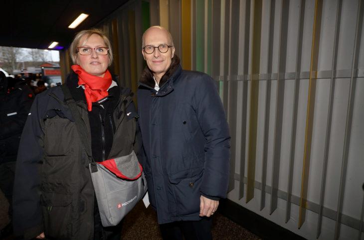 Bürgermeister Dr. Peter Tschentscher, Zugfahrerin Nancy Brandt
