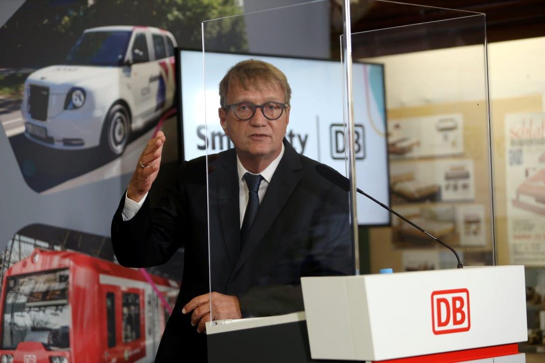 Ronald Pofalla, Vorstand Infrastruktur der Deutschen Bahn bei seiner Ansprache am 25. September 2020