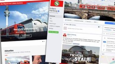 Die S-Bahn Hamburg ist jetzt bei Facebook und bloggt auf ihrer Website