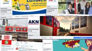 Diese HVV-Unternehmen sind bei Facebook & Twitter vertreten