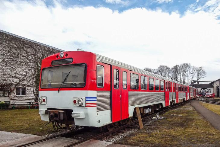 Ehemaliger AKN-Triebwagen vom Typ VT2E im Bayerischen Eisenbahnmuseum