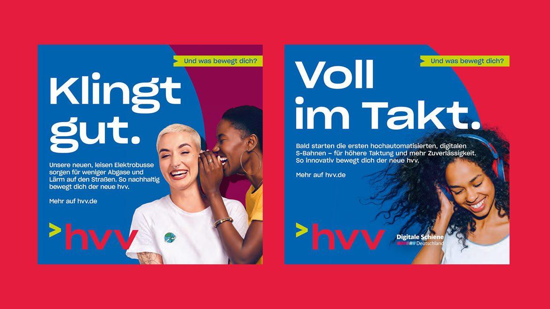 Neues Logo, neue Werbemotive im HVV.