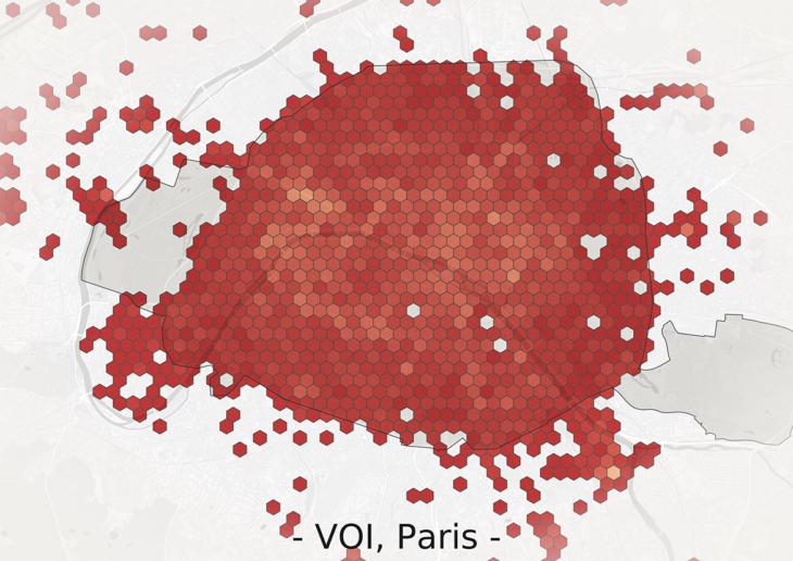 """Nachfrage von E-Scootern der Firma """"Voi"""" in Paris"""