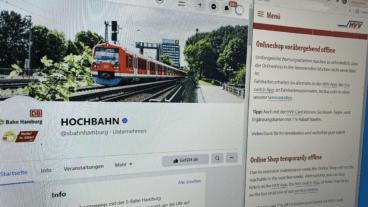 Vertauschte Facebook-Seiten und abgeschalteter Fahrkartenshop: Große Umbauarbeiten im HVV.