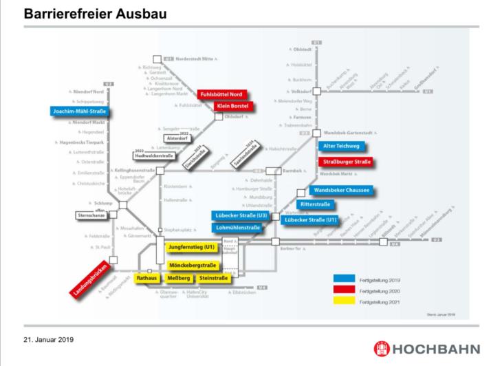 Diese U-Bahn-Haltestellen in Hamburg sollen in den kommenden Jahren barrierefrei ausgebaut werden