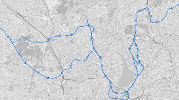 Karte: Die geplante U-Bahnlinie U5 in Hamburg mit verschiedenen Streckenvarianten