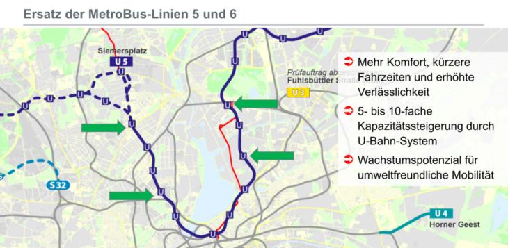 So soll die U5 in der Hamburger Innenstadt verlaufen