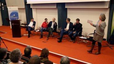 Podiumsdiskussion zum Thema Klima in der katholischen Akademie in Hamburg mit Politikern