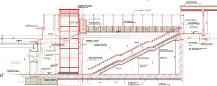 Längsschnitt S-Bahnhof Ottensen: So soll der Treppenaufgang am Ausgang West aussehen (zum Vergrößern anklicken)