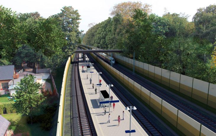 Visualisierung: So soll der neue S-Bahnhof Claudiusstrasse in Wandsbek aussehen