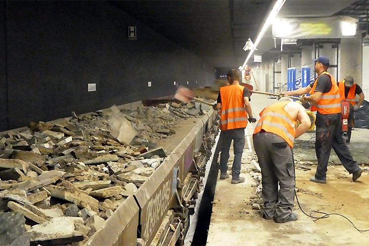Symbolbild: Bauarbeiten im Hamburger S-Bahn-Citytunnel (Altona)