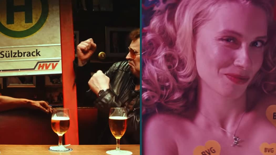 Ausschnitte aus den beiden neuen Werbevideos von HVV und BVG