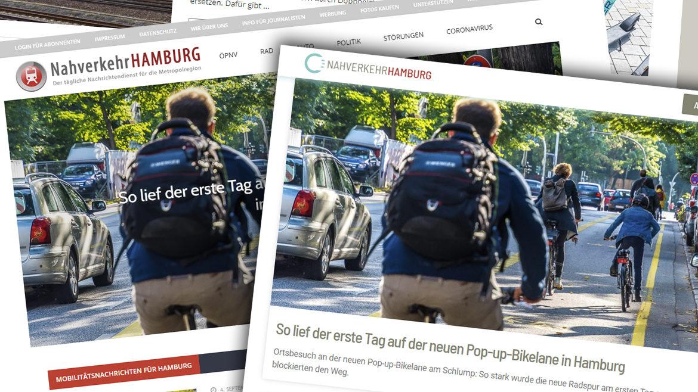 Neue Farben, neues Logo und mehr Klarheit: Die neue Website von NahverkehrHAMBURG