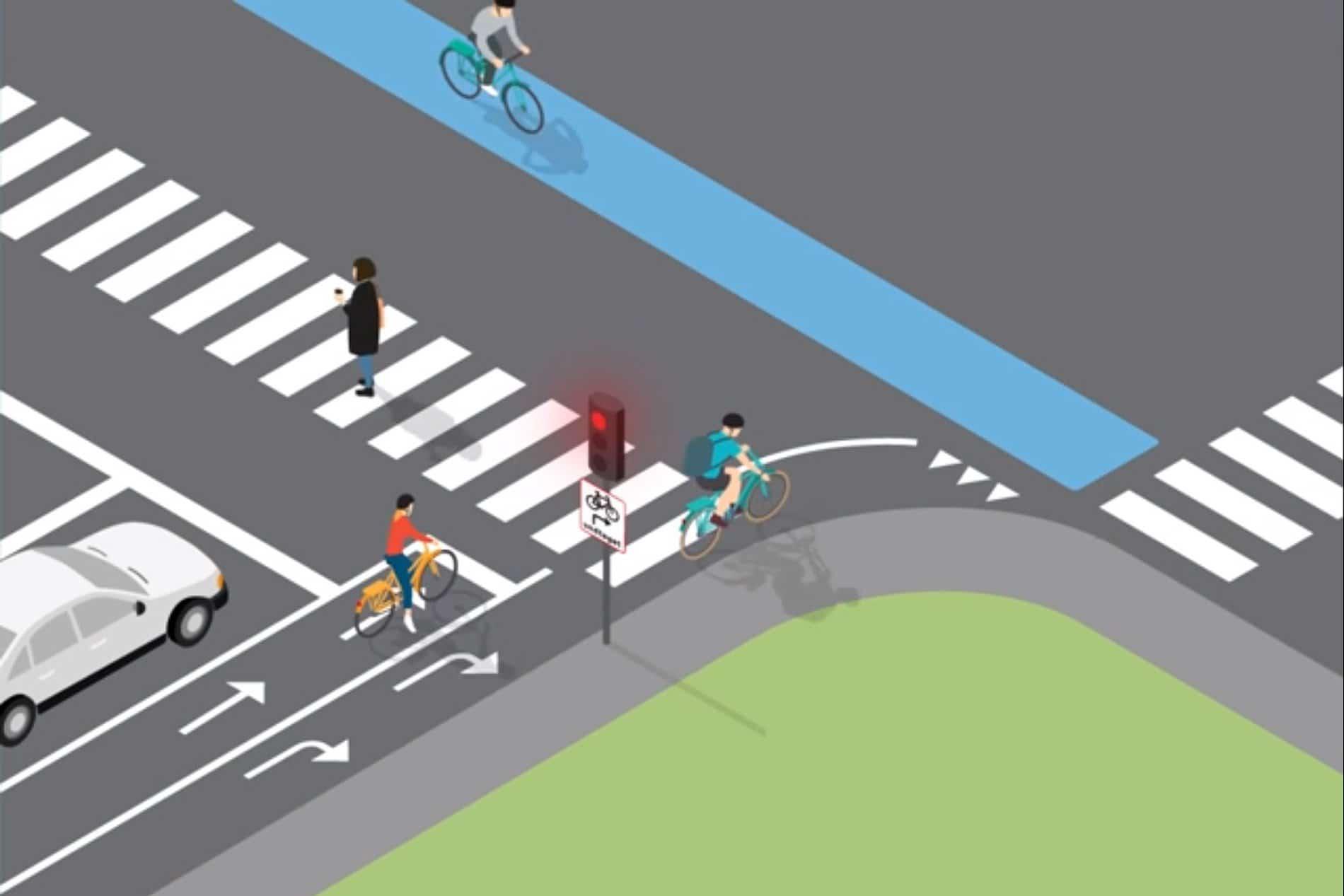 Dänemark erlaubt Radfahrern Rechtsabbiegen bei Rot
