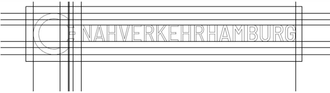 Skizze: das neue NahverkehrHAMBURG-Logo