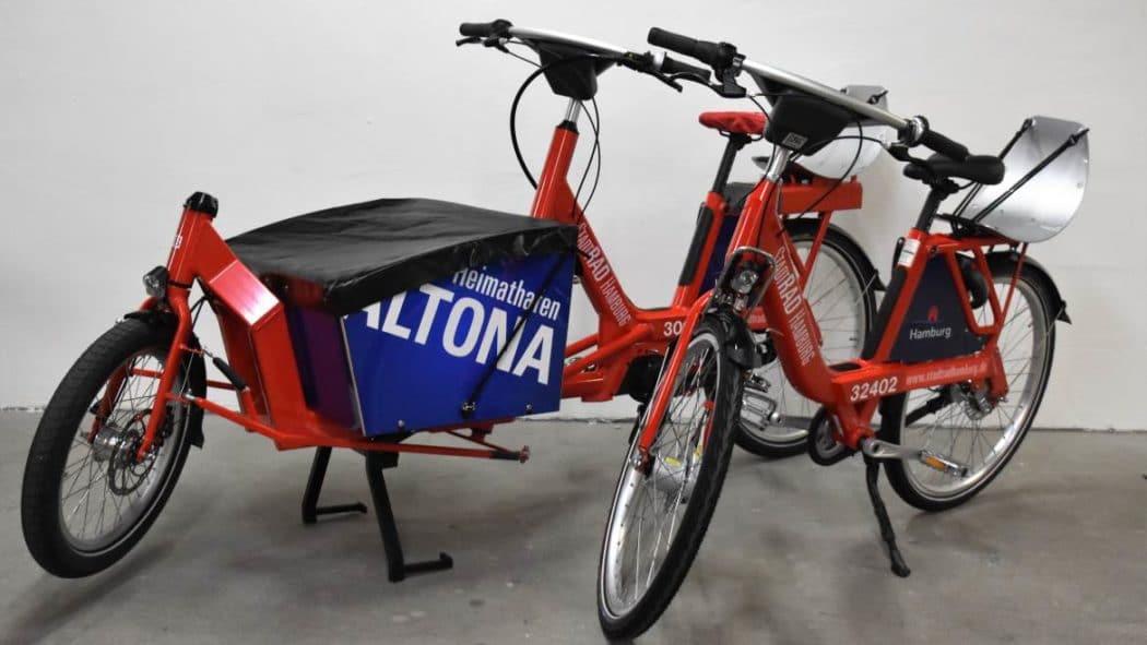 Ab April können bei StadtRad Hamburg auch spezielle Lastenräder ausgeliehen werden