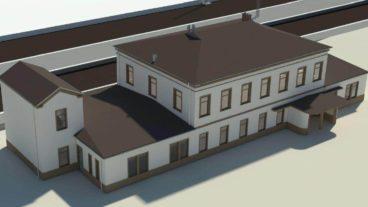 Visualisierung: Das alte Bahnhofsgebäude in Pinneberg soll restauriert werden