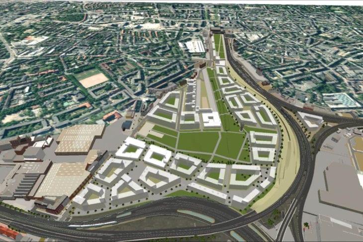 Das heutige Gelände des Bahnhofs Altona mit seinem großen Gleisvorfeld soll mit Wohnungen bebaut werden.
