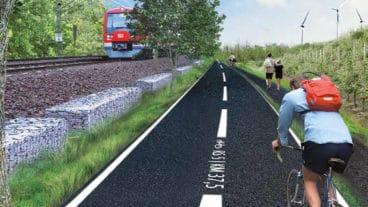 Visualisierung: So könnten die geplanten Radschnellwege von Hamburg in die Region aussehen