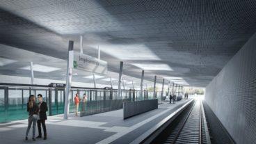 So soll der U-Bahnhof Sengelmannstraße nach dem Bau der U5 künftig aussehen