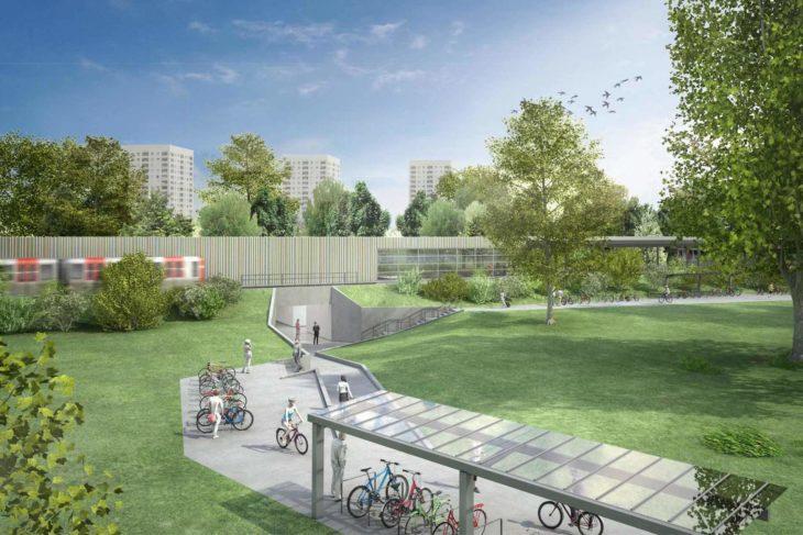 Visualisierung: So soll der geplante neue U-Bahnhof Oldenfelde aussehen