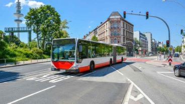 Busbeschleunigung an der Staatsbibliothek in Hamburg