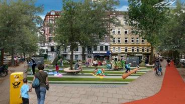 """Spielplatz, Sitzgelegenheiten, breite Radwege und kaum Autoverkehr. So stellt sich die Initiative """"Kurs Fahrradstadt"""" ein """"Superbüttel"""" vor."""